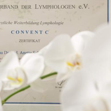 Urkunde Venenpraxis Dr. Anette Schäfer, KL/Kaiserslautern Phlebologie